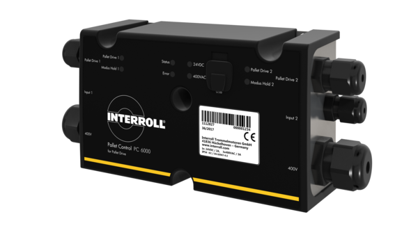 Transporte de paletas con acumulación sin presión gracias al Interroll Pallet Control PC 6000