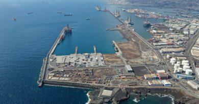 El Puerto de Las Palmas supera el año covid con un 0'08% de crecimiento