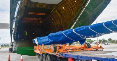 Dachser organiza un chárter aéreo para el transporte de una gran pieza de avión